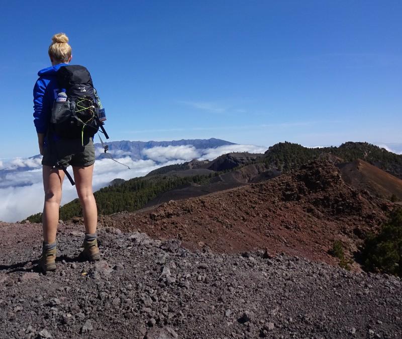 Steffi wandert auf La Palma