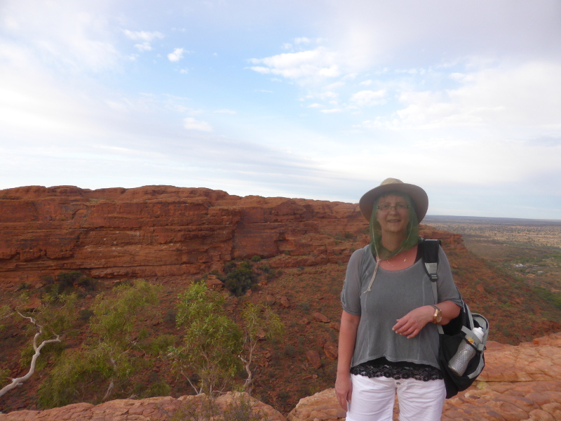 Silke unterwegs in Australien (Darwin)