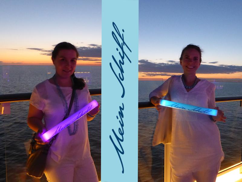 Jana und Stefanie auf der Mein Schiff 5