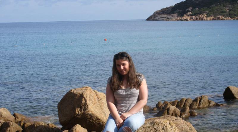 Stefanie an der Costa Smeralda / Sardinien