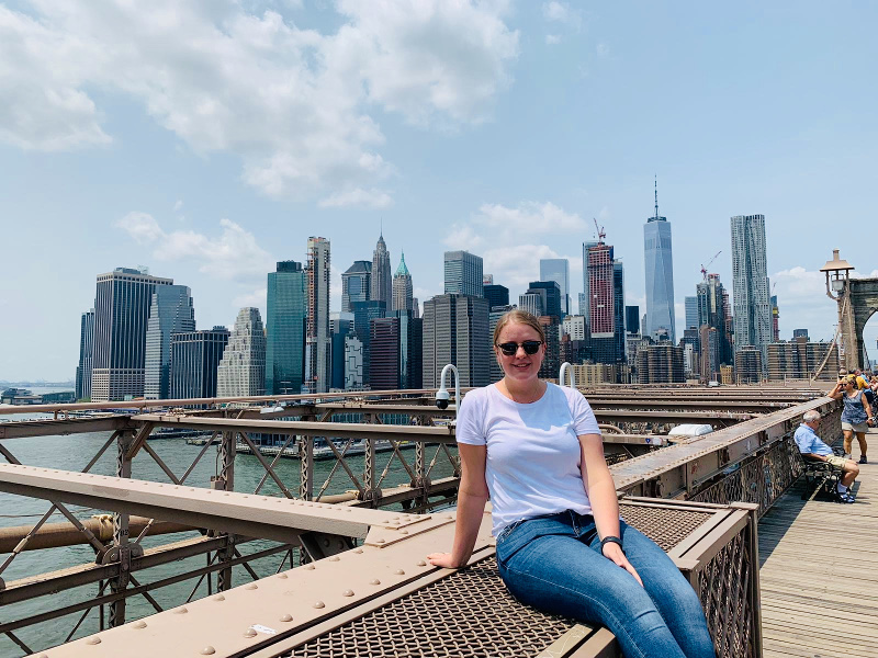 Laura unterwegs im Big Apple